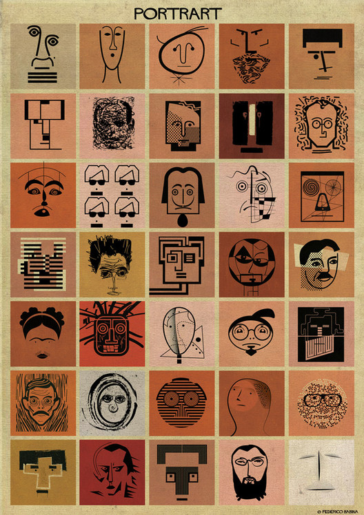 Federico Babina's PORTRART Illustrations Tells a Story Within a Portrait, Courtesy of Federico Babina