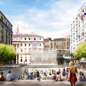 FOSTER + PARTNERS MILAN APPLE STORE TO FEATURE PUBLIC PLAZA AND WATERFALL ENTRANCE
