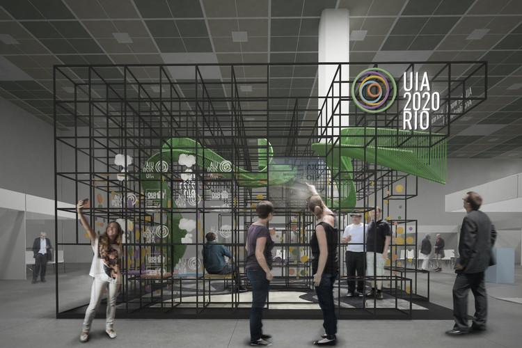 Vencedor do concurso para pavilhão brasileiro no UIA 2017 Seoul , Cortesia de Alexandre Kuroda, Renata Portelada, Thomas Takeuchi, Caio Cavalcanti  e Isadora Tebaldi
