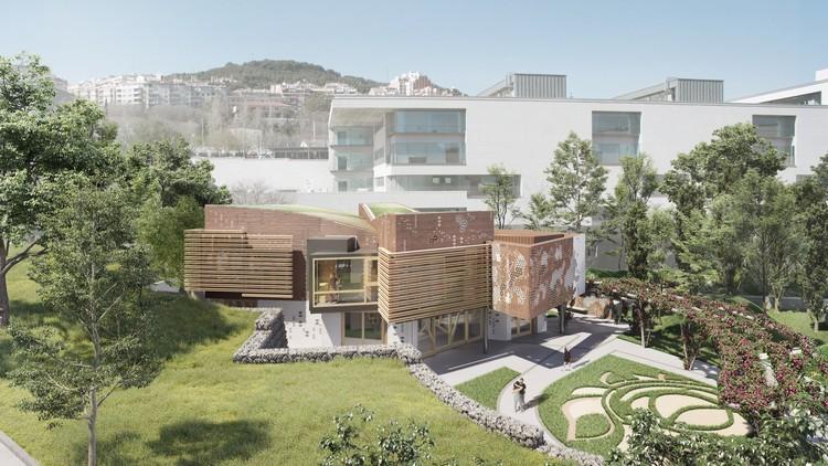 Iniciada a construção do inovador Centro de tratamento ao Câncer em Barcelona, Renderização – Centro Kálida Sant Pau . Image © Playtime