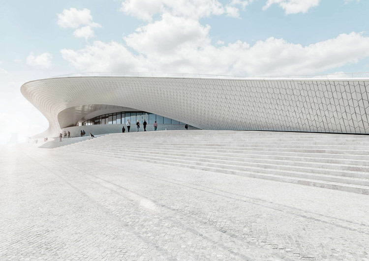 The Textural, Geometric Surfaces of AL_A's MAAT in Lisbon, © Joel Filipe