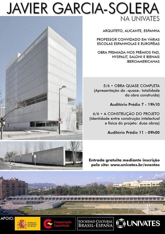 Palestra com o arquiteto Javier García-Solera na UNIVATES
