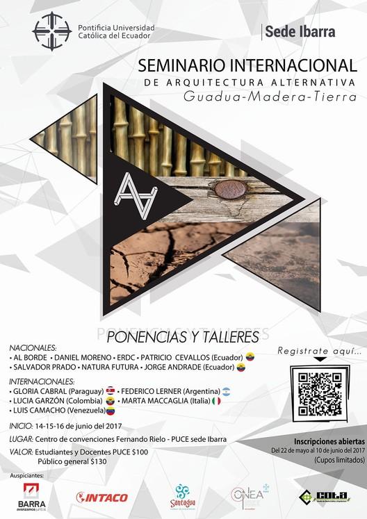 Seminario Internacional de Arquitectura Alternativa: guadua, madera y tierra, Seminario Internacional de Arquitectura Alternativa