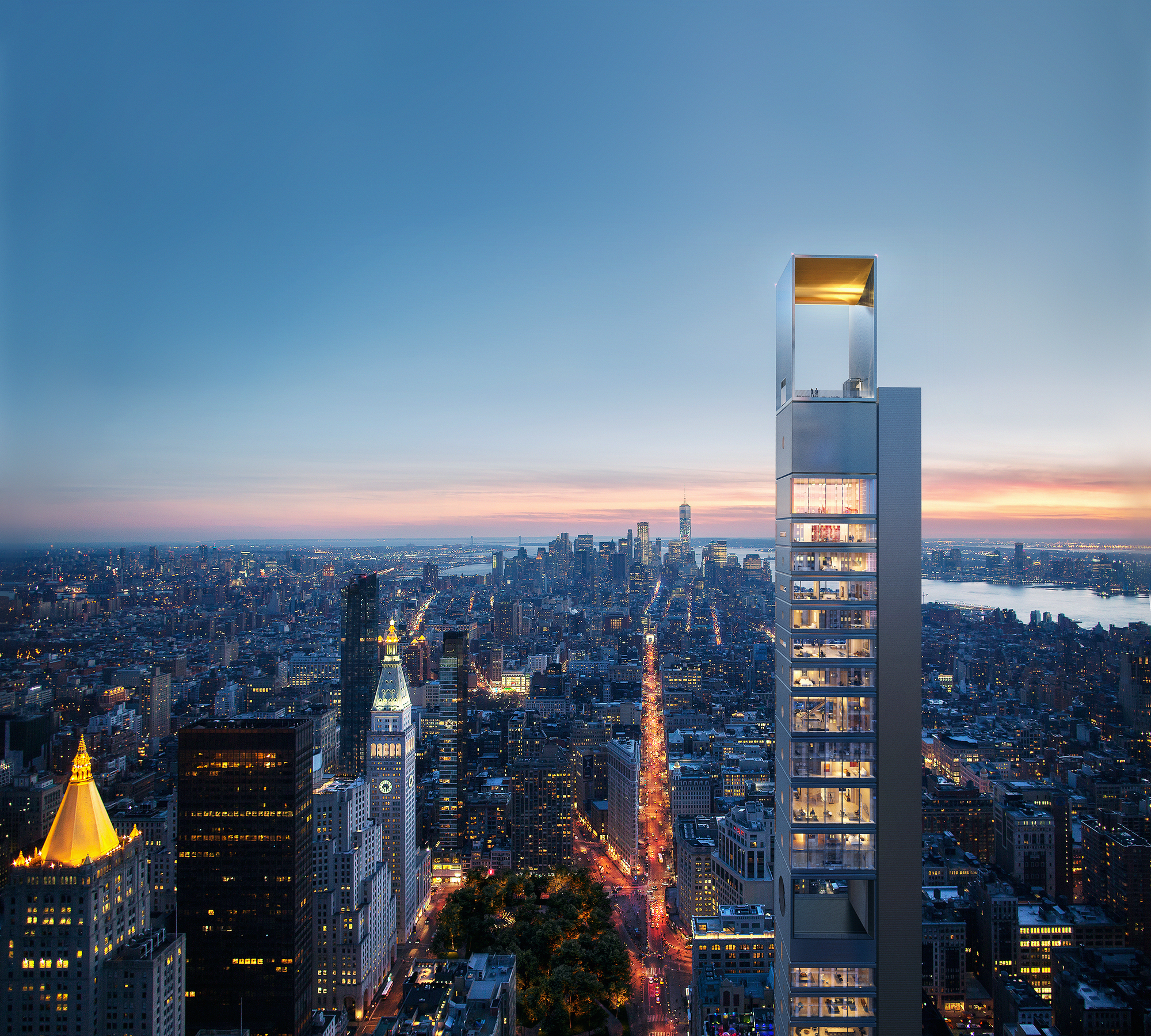 A New Giant Sets Foot In Nyc Meganom S Skyscraper Design