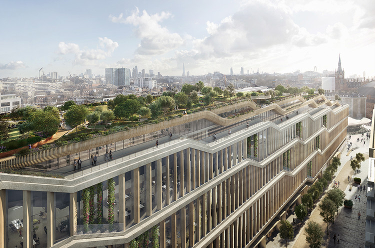 Google Unveils Images of its New BIG and Heatherwick-Designed London Campus, Courtesy of Google