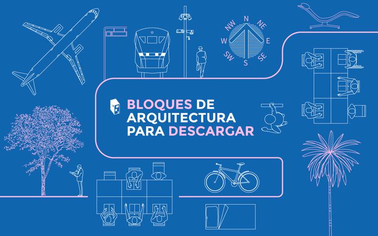 Descarga esta biblioteca de diseños y objetos en formato DWG para tus planos en CAD, vía archweb