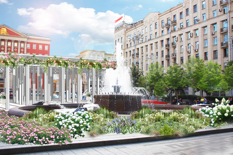 Moscow Flower Streets: Open International Urban Landscaping and Design Competition , Moscow.Flowers.Sweets Festival
