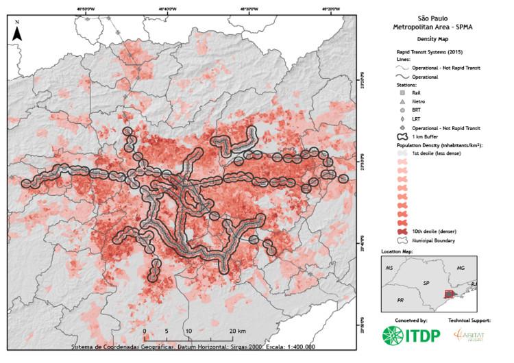 Mobilidade e equidade: a proximidade do transporte entre diferentes faixas de renda nas regiões metropolitanas brasileiras, © ITDP Brasil