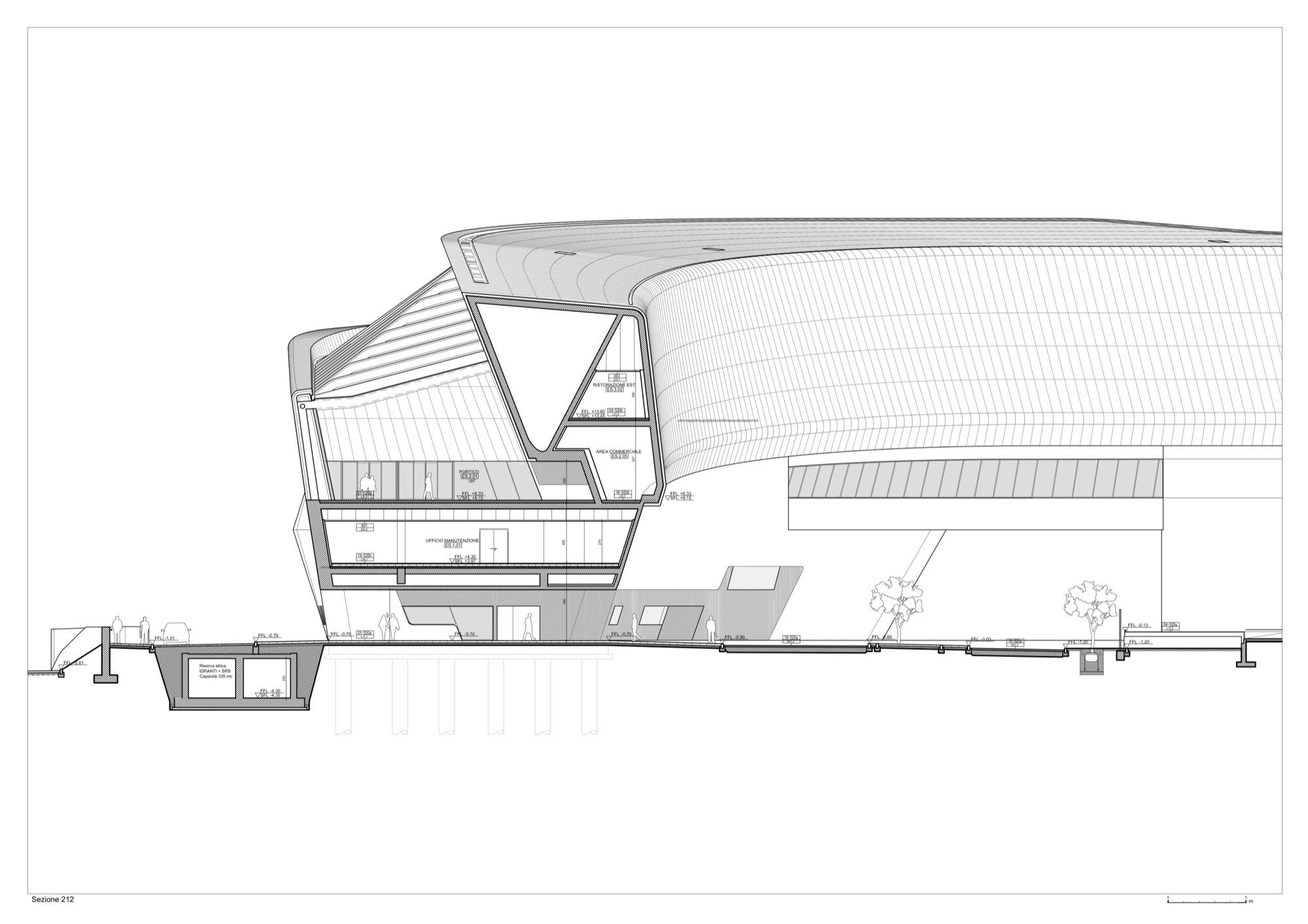 Technical Drawing Floor Plan Galeria De Esta 231 227 O De Napoli Afragola Fase 1 Zaha