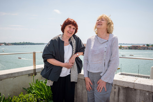 "© Andrea Avezzu. Yvonne Farrell and Shelley McNamara, Directors of the 2018 Venice Architecture Biennale – ""Freespace"". Image Courtesy of La Biennale di Venezia"
