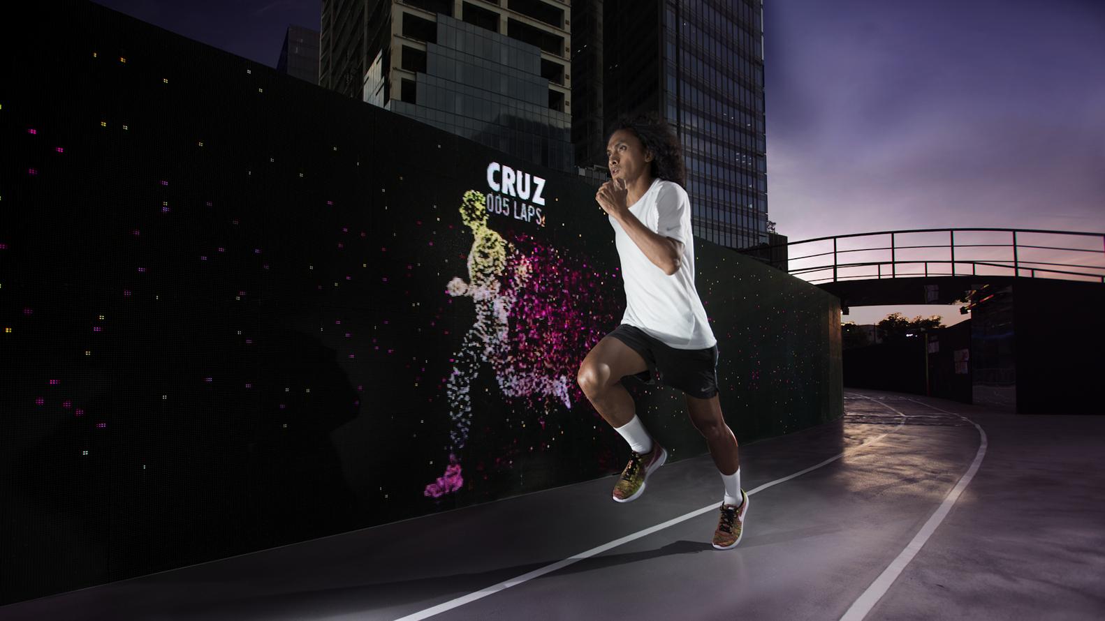 quality design c0708 68359 Nike Designs Shoe-Shaped LED Track in Manila
