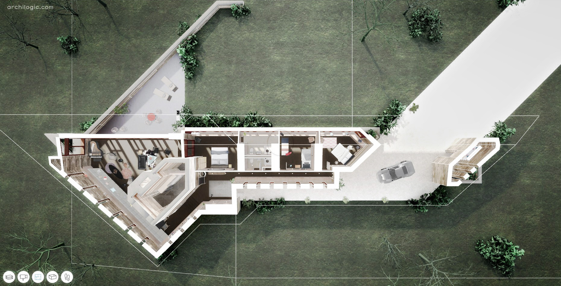 House 3d Gallery Of Tour Frank Lloyd Wright S Final Unbuilt House