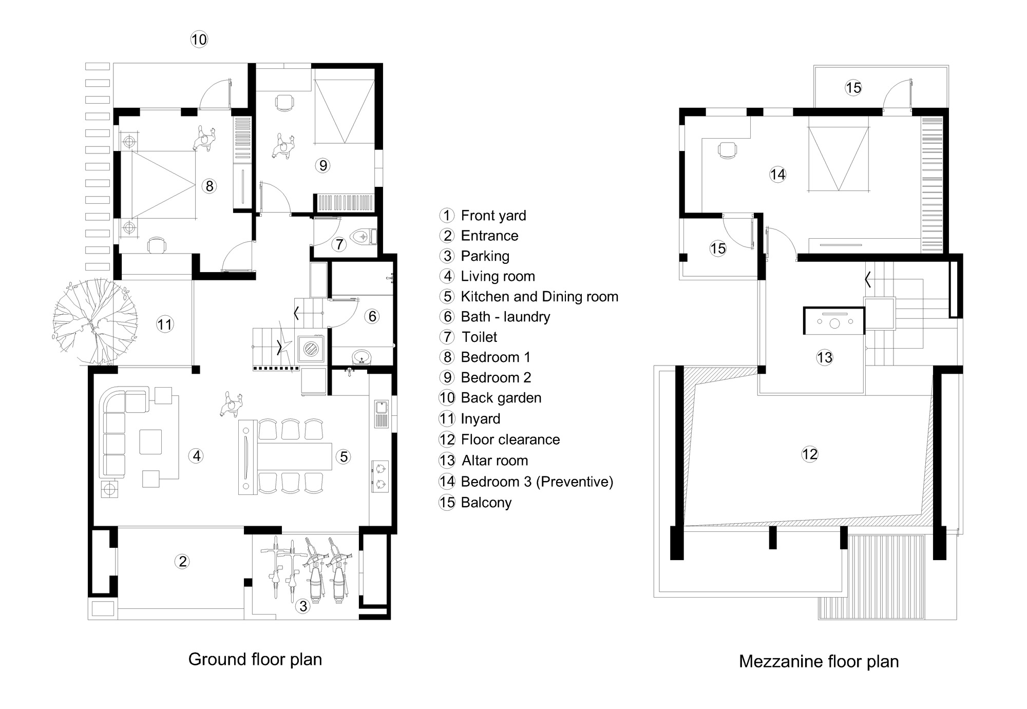 Gallery of new house r u arch 23 for Mezzanine floor plan
