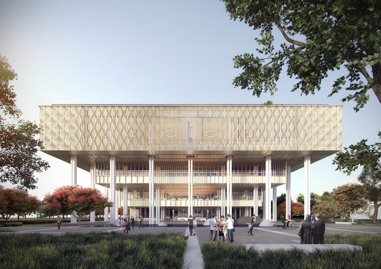 Mecanoo and MAYU Architects+ Break Ground on Tainan Public Library, Courtesy of Mecanoo
