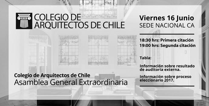 Colegio de Arquitectos de Chile cita a sus socios a Asamblea Extraordinaria, Cortesía de Colegio de Arquitectos de Chile