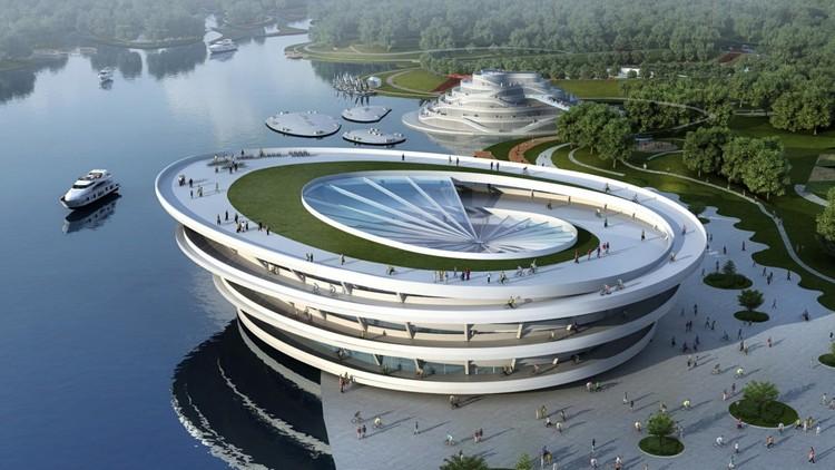 La primera Bienal de Arquitectura de la Bicicleta debuta este 2017 en Ámsterdam, Chongming Bicycle Park / JDS Architects. Image Cortesía de CycleSpace