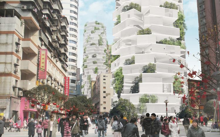 NO ARCHITECTURE enfatiza sustentabilidade e interação com torres residenciais alternativas na China, © NO ARCHITECTURE