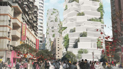 NO ARCHITECTURE enfatiza sustentabilidade e interação com torres residenciais alternativas na China