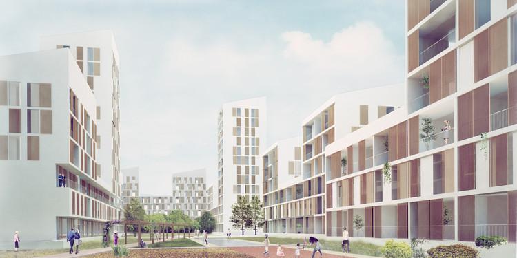 PRÁCTICA y Daroca Arquitectos diseñarán 116 viviendas del proyecto Manzana Verde en Málaga, Cortesía de PRÁCTICA y Daroca Arquitectos