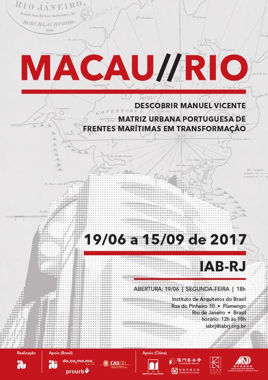 Exposição Macau / Rio de Janeiro – Descobrir Manuel Vicente e Matriz urbana portuguesa de frentes marítimas em transformação, via IAB/RJ