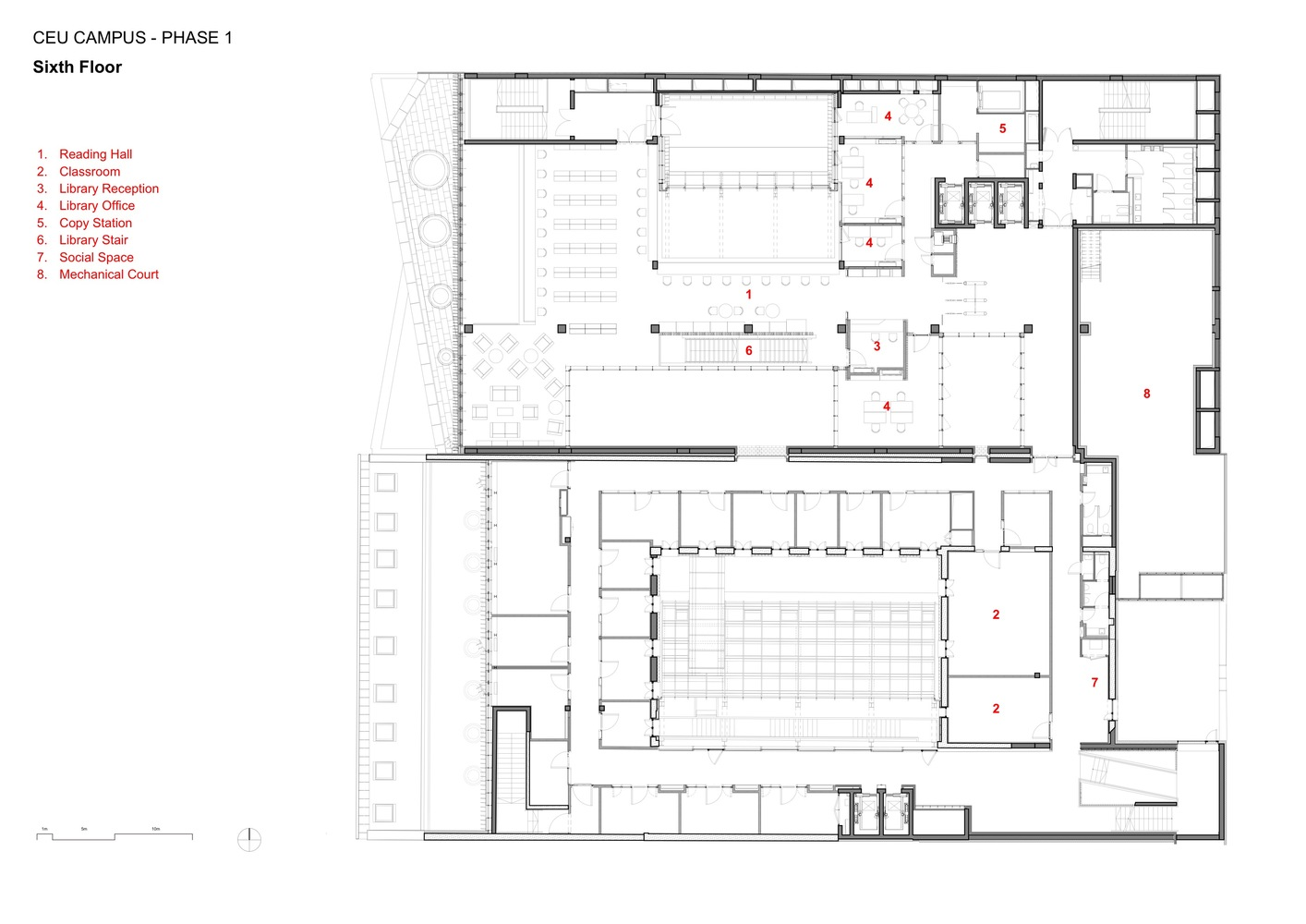 gallery of central european university o donnell tuomey 51 rh archdaily com Floor Plan Layout Template Example of Floor Plan Layout