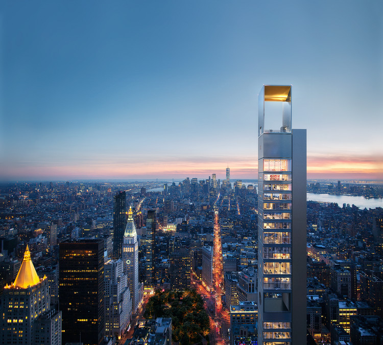 Meganom divulga projeto de mais um arranha-céu em Nova Iorque, Cortesia de Meganom