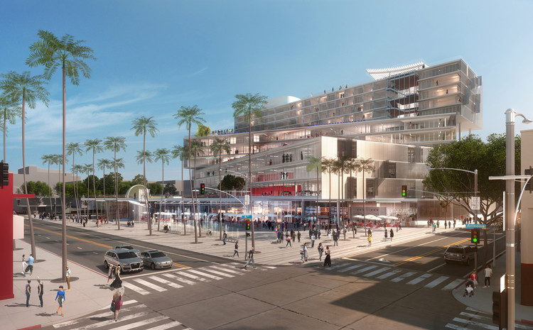 Open Jobs at OMA: Work for Pritzker Laureate Rem Koolhaas , OMA's mixed-use scheme for Santa Monica. Image © OMA