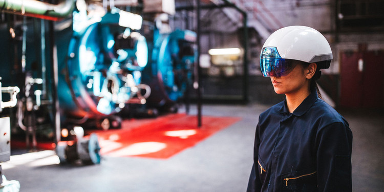 """X-Ray Vision"" Headset Allows Architects to See Under the Surface of Construction Sites, Courtesy of DAQRI"