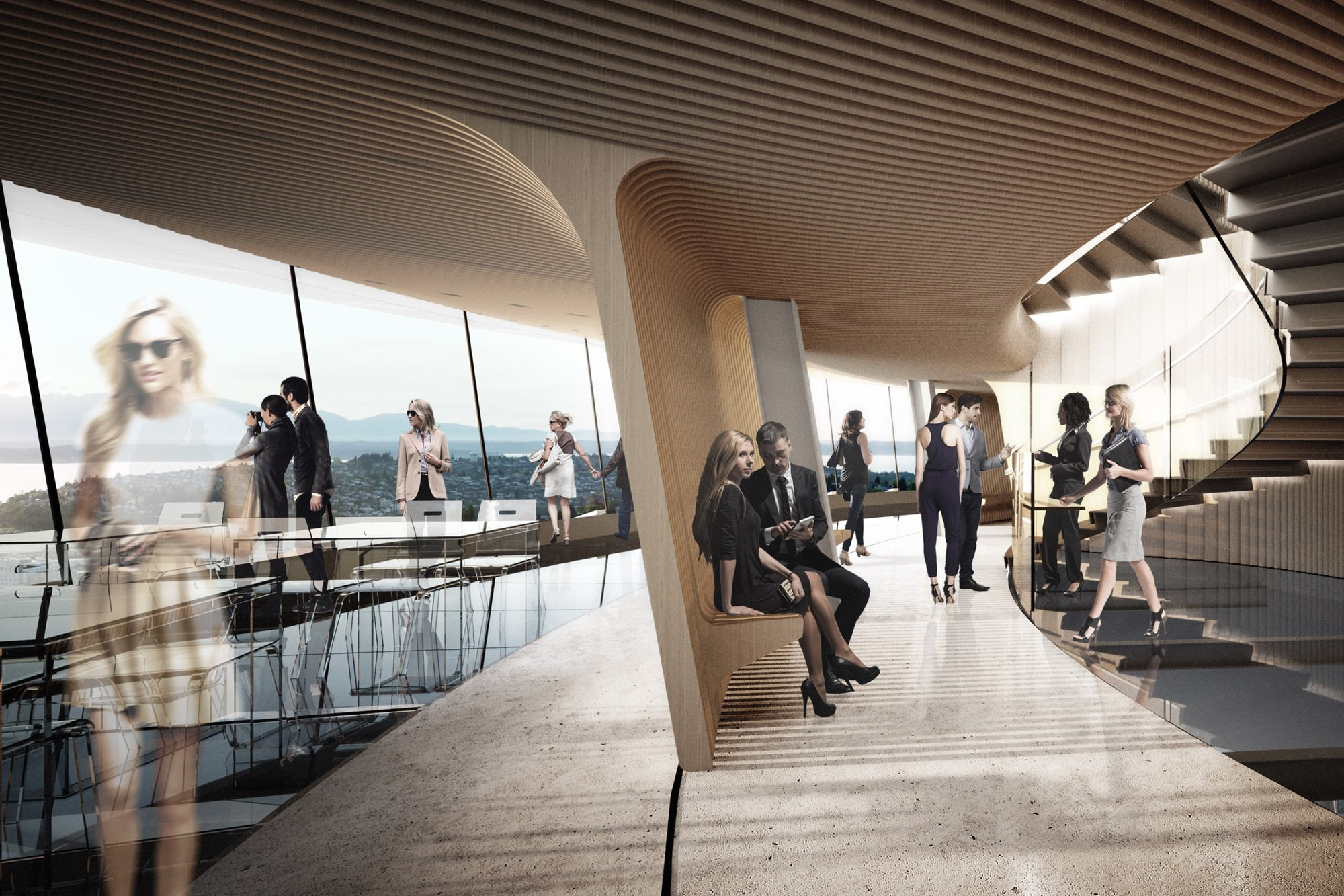 Restaurant Design Concepts Gallery Of Seattle's Space Needle To Undergo $100 Million