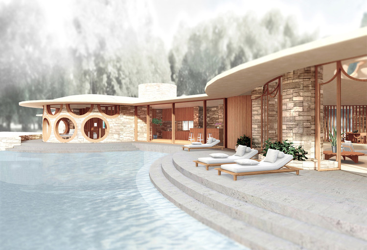 Explore Frank Lloyd Wright's Curvaceous Unbuilt House Design for Marilyn Monroe, Courtesy of Archilogic