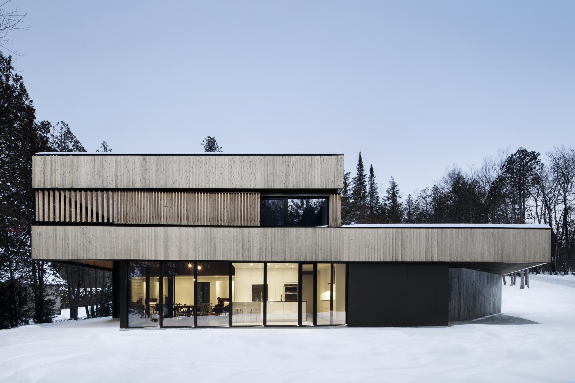 Gallery of maison sur le lac acdf architecture 13 - Canada maison close ...