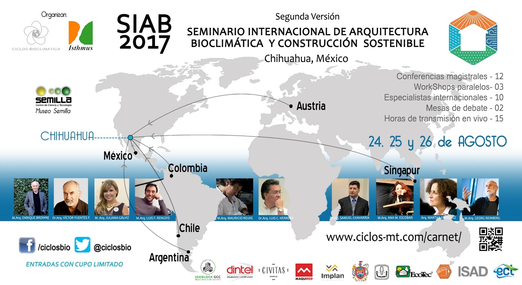 Siab2017 seminario internacional de arquitectura for Aulas web arquitectura