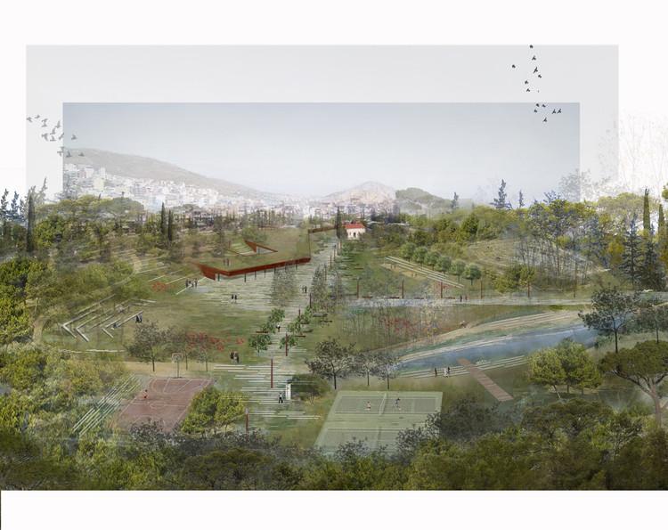 """Revitalização de um antigo cemitério em Atenas cria """"osmose"""" do parque à cidade, Cortesia de Topio7 Architects"""