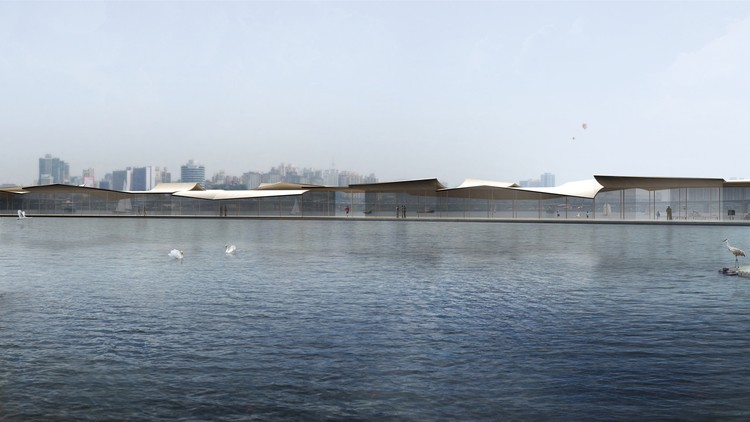 Mirroring the Flatness of a Calm River: Cheongvogl Win Seoul Ferry Terminal Competition, Courtesy of CHEUNGVOGL