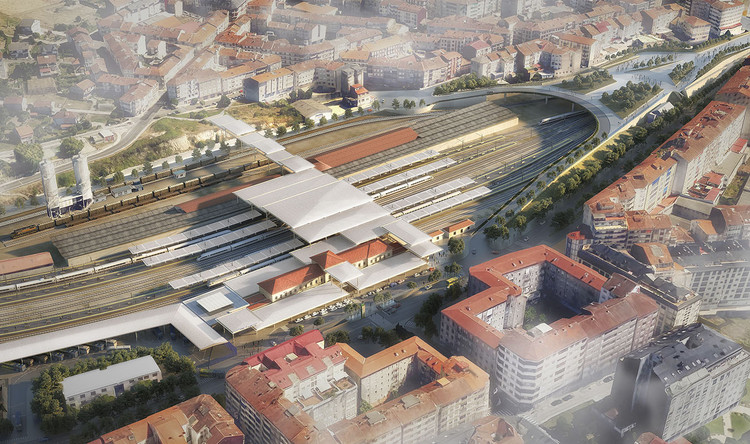 Foster + Partners Reveal Updated Designs for Intermodal Transportation Hub in Spain