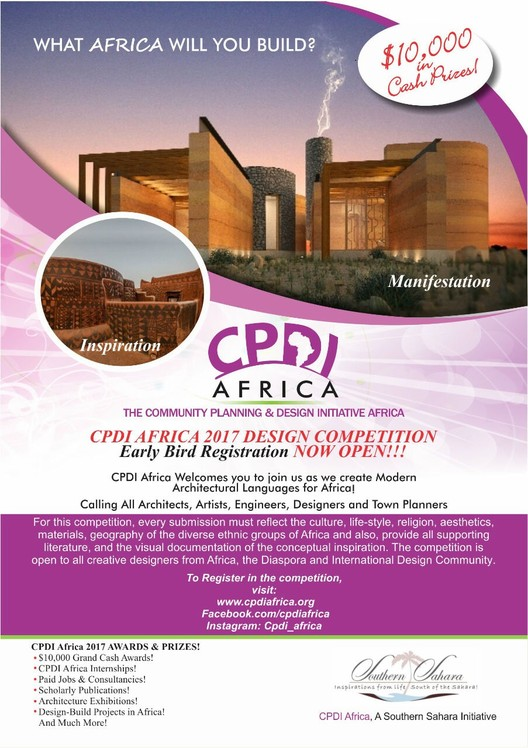 Open Call for CPDI Africa 2017 Competition, CPDI Africa 2017 Competition Poster
