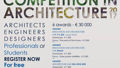 """International Competition in Architecture 2017"" busca propostas para o mar e o espaço"