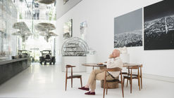 The Norman Foster Foundation's Wing-Shaped Pavilion Provides a Home for Le Corbusier's Car