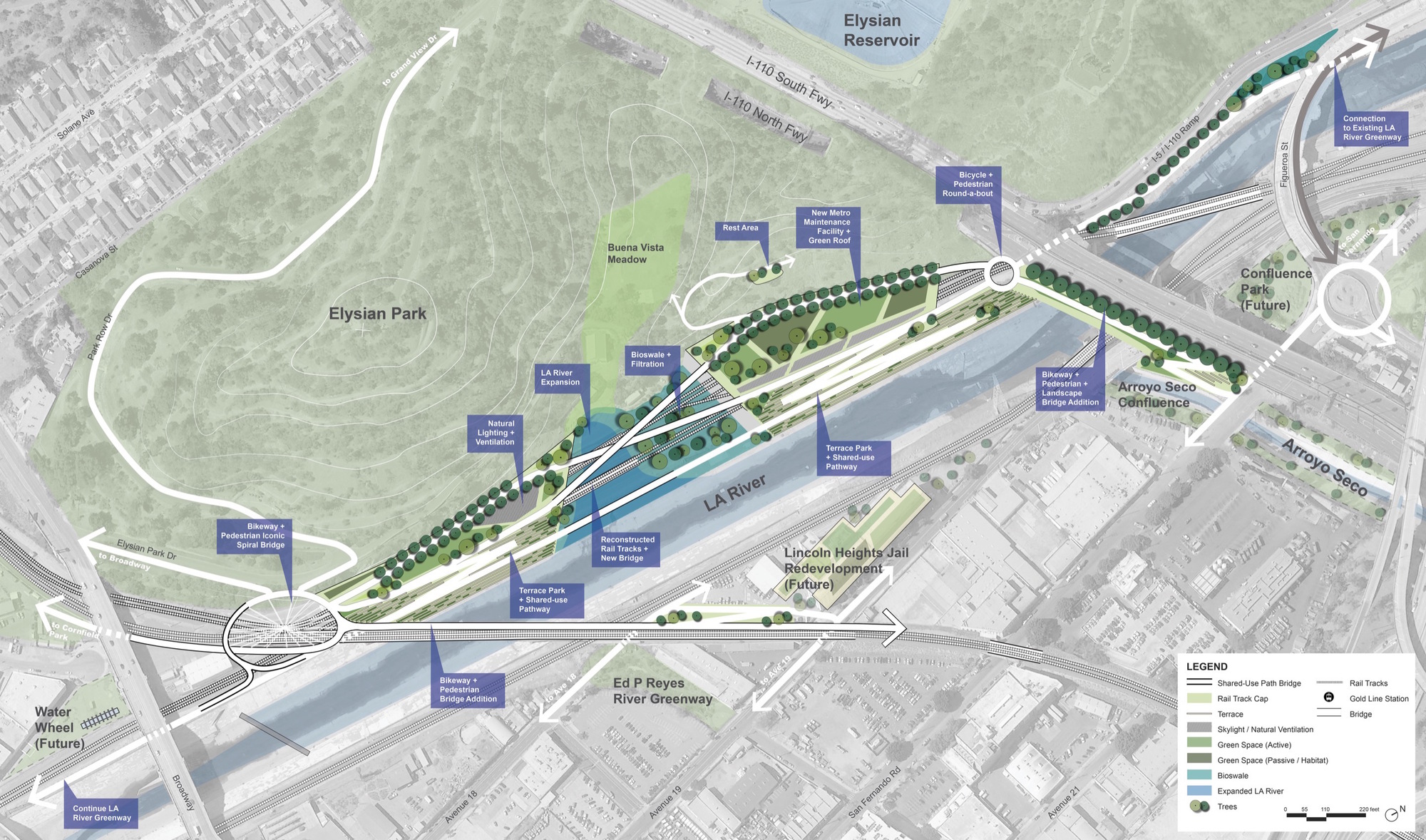 Gallery Of Firms Reveal Plans For Los Angeles River - Los angeles river map