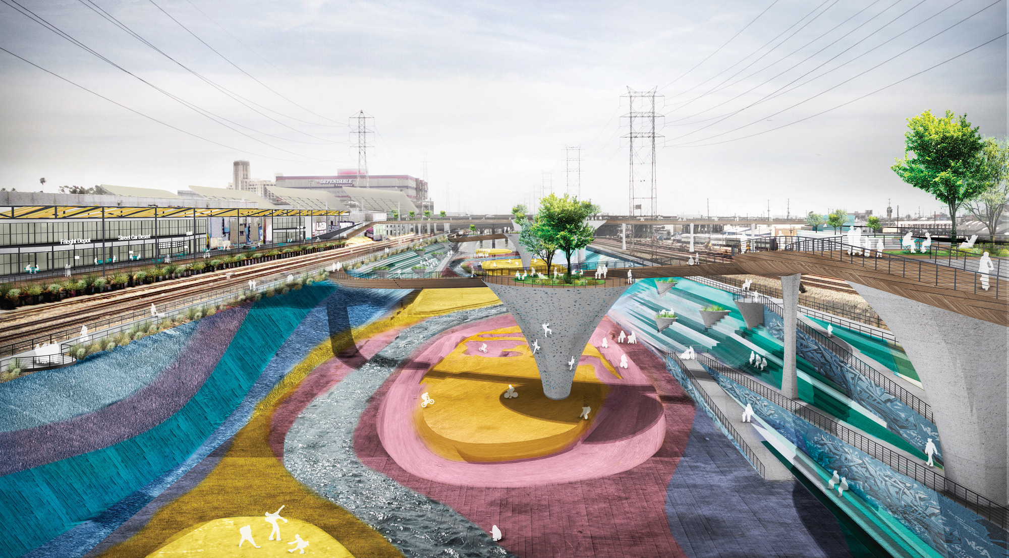 Gallery of 7 firms reveal plans for los angeles river - Architectural designers near me ...