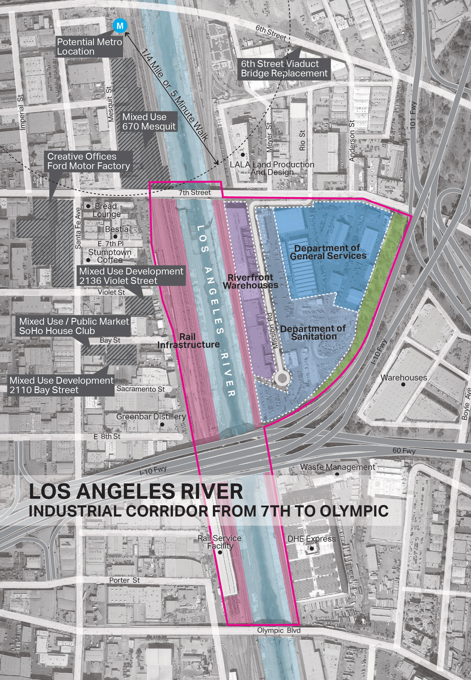Gallery of 7 firms reveal plans for los angeles river for Architecture firms los angeles