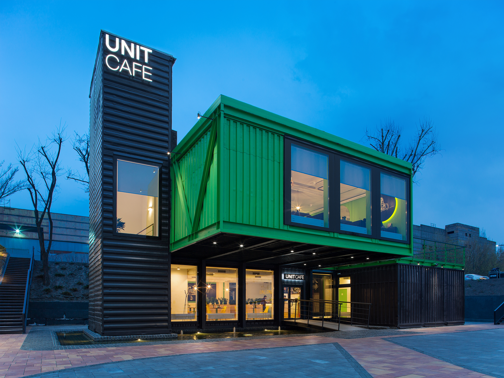 Unit Cafe Tseh Architectural Group Archdaily