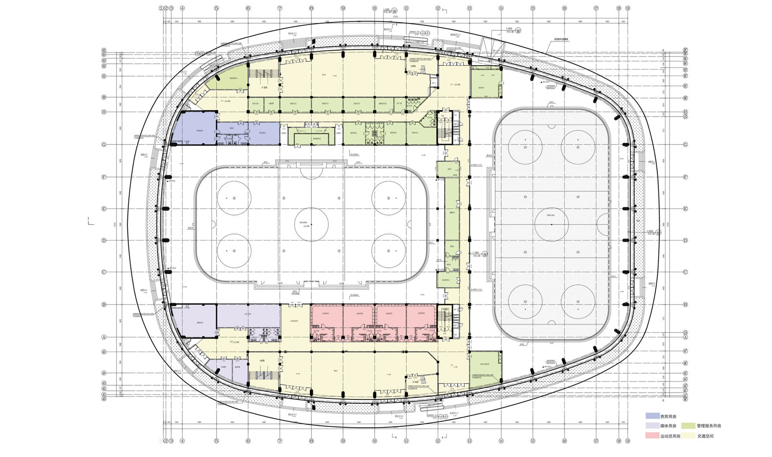 Ice Sports Center Of The 13th China National Winter Games,Hocky Place 1st  Floor Plan