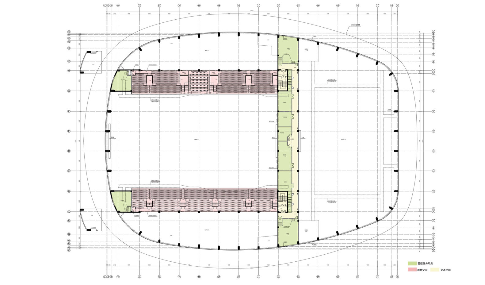 Ice Sports Center Of The 13th China National Winter Games,Hocky Place 3rd  Floor Plan