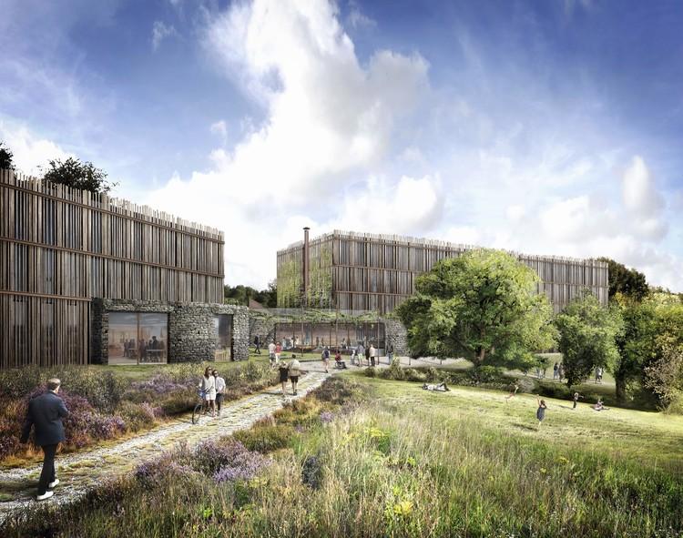 Tate Harmer divulga projeto de hotel ecológico para o Eden Project na Inglaterra, © AVR London