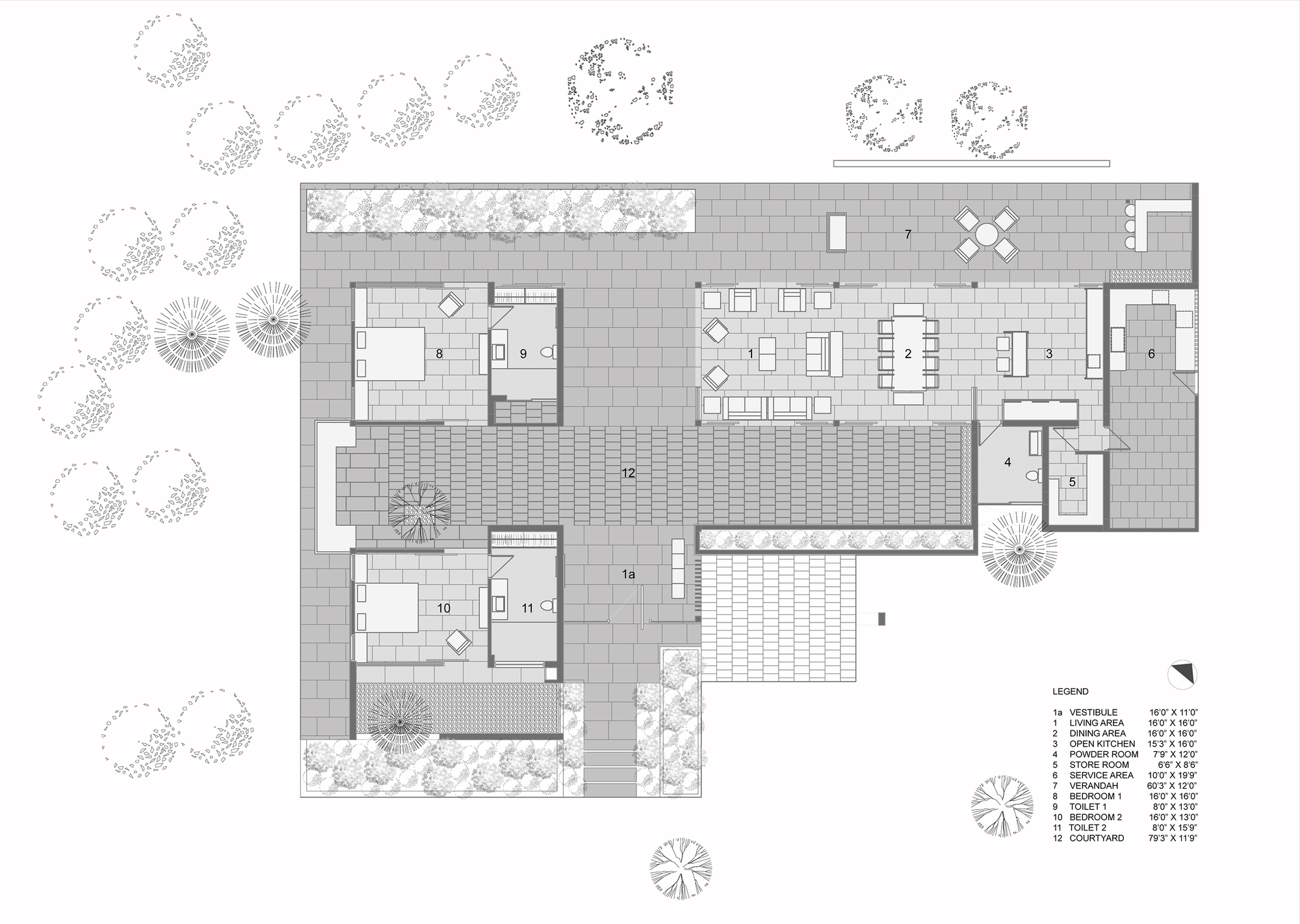gallery of the house by the trees modo designs 14