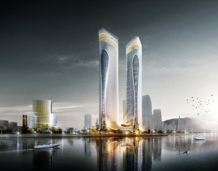 Aedas Unveils Dragon-Inspired Complex Design in Zhuhai, China, Courtesy of Aedas