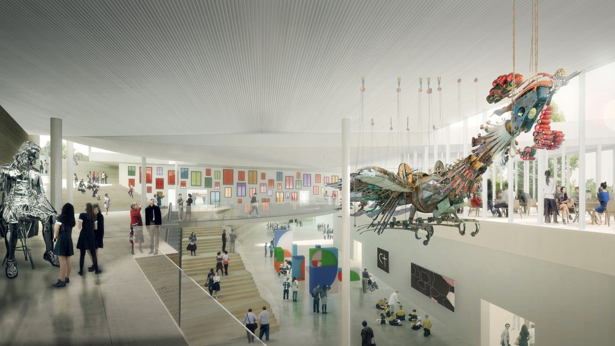 How to design an art gallery - Sanaa Reveals New Images Of Design For Art Gallery Of New South Wales