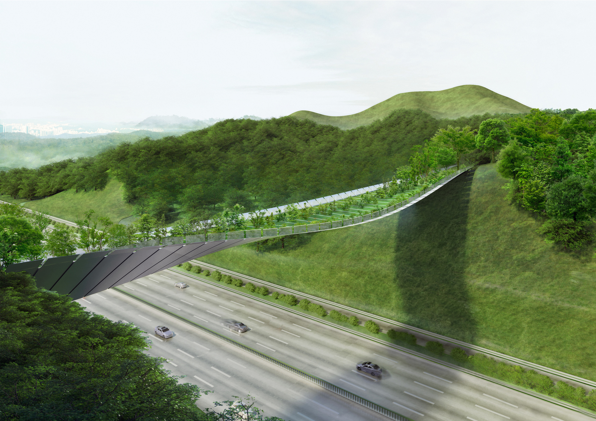 Gallery of eco bridge design winner creates an undulating for Eco landscape design