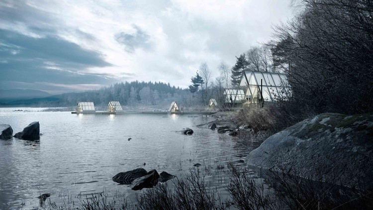 Lendager Group Unveils Plans for Permaculture Farming and Cabin Escape in Swedish Wilderness , Courtesy of Lendager Group